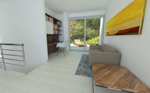Estudio: Estudios y despachos de estilo moderno por Alejo Gallego /Diseño de espacios y visualización 3D