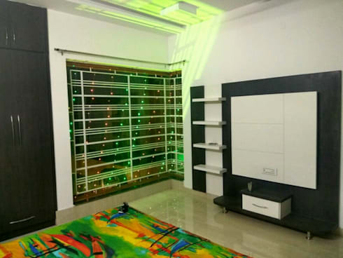 MR. VINOD GARG HOUSE AT FATEHABAD: modern Bedroom by Dream Homes Architect