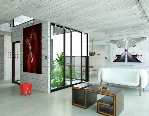 Propuesta interiores.: Salas de estilo minimalista por Eidética