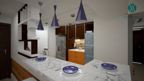 Interiorismo en apartamento : Cocinas de estilo  por Vanguardia Arquitectónica