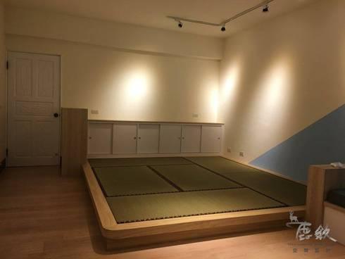 住宅 簡約民宿小會館-高雄三民:  臥室 by 鹿敘空間設計