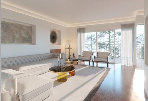 Opciones diseño interior salón en Madrid de DIKA estudio | homify