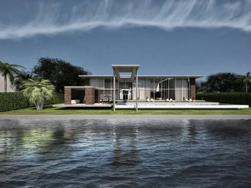 Key Biscayne : tropical Yachts & jets by Fernandez Architecture