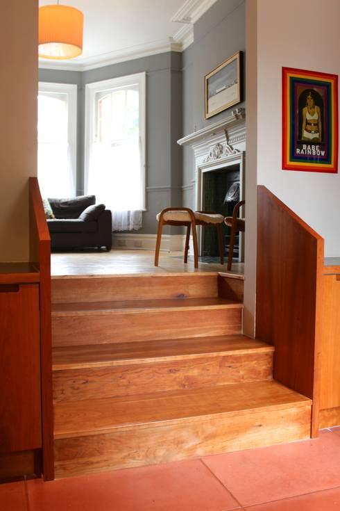 modern Corridor, hallway & stairs by A2studio