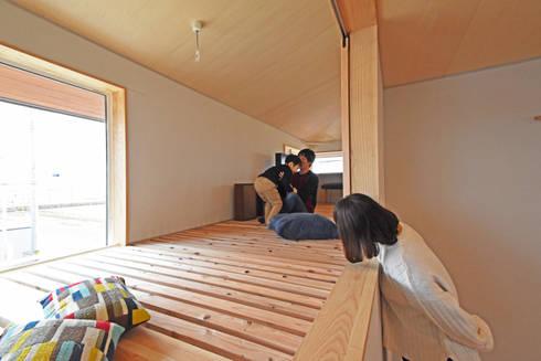 天候を気にせず洗濯物が干せるインナーバルコニー: 合同会社negla設計室が手掛けたベランダです。