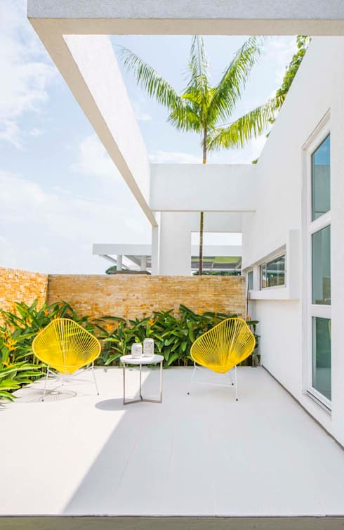 Casa de la Acacia - Sombra Natural: Terrazas de estilo  por David Macias Arquitectura & Urbanismo