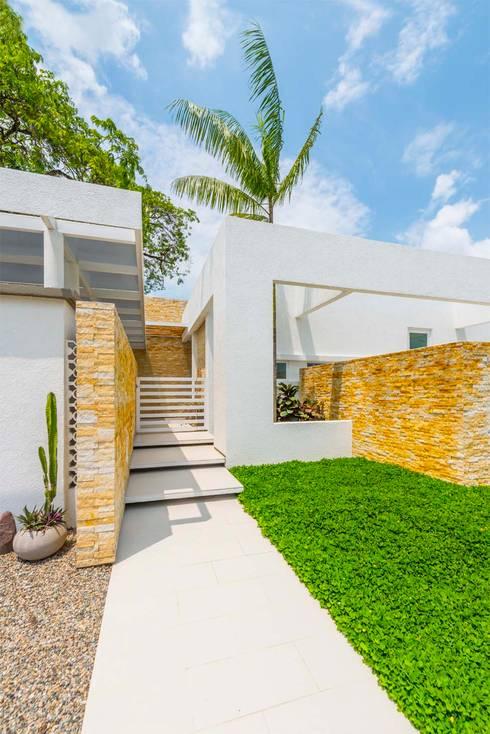 Casa de la Acacia - Sombra Natural: Pasillos y vestíbulos de estilo  por David Macias Arquitectura & Urbanismo