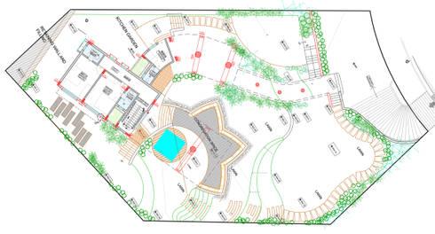 Landscape concept plan: modern Garden by Land Design landscape architects