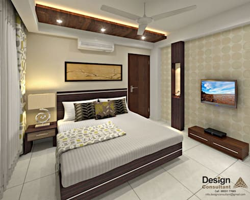 Guest Bedroom 1: asian Bedroom by Design Consultant