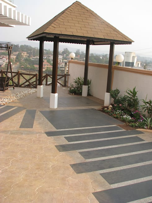 Weekend home at Lonavala: modern Garden by Land Design landscape architects