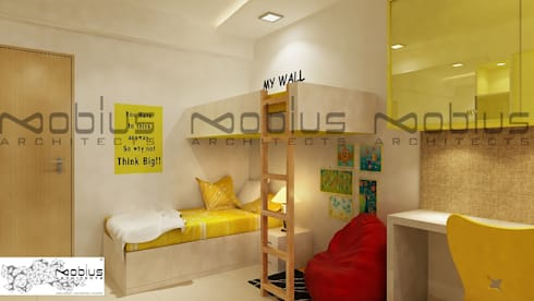 Rhythm Apartment: modern Nursery/kid's room by Mobius Architects