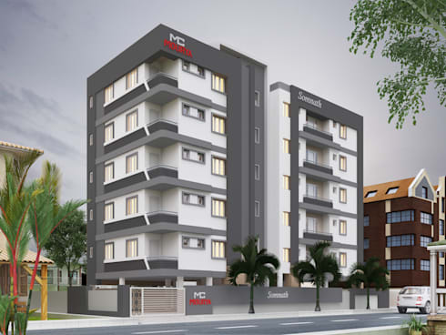 Mourya Somanath: asian Houses by Mourya Constructions