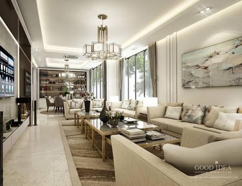 โครงการตกแต่งภายใน Luxury บ้านพัก คุณนัท จังหวัดเพ็ชรบุรี:  ตกแต่งภายใน by GOOD IDEA INTERIOR CO.,LTD.