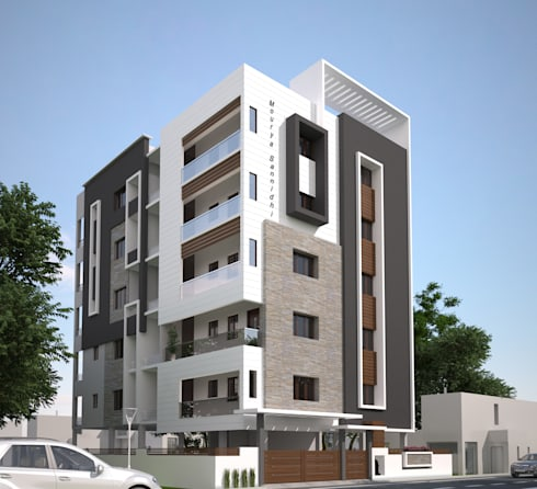 Mourya Sannidhi: classic Houses by Mourya Constructions