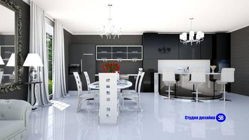 Kitchen in art deco style: classic Kitchen by 'Design studio S-8'