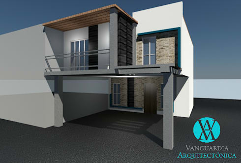 Remodelación de fachada: Casas de estilo moderno por Vanguardia Arquitectónica