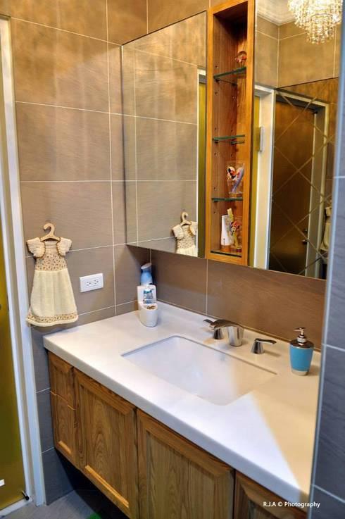 中和忠孝街蔡公館:  浴室 by 森叄室內裝修設計有限公司