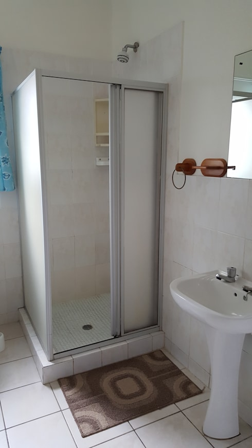 Guest Bathroom Before:   by Carne Interiors