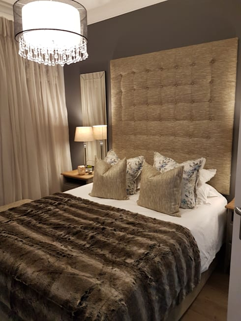 Main Bedroom After:   by Carne Interiors