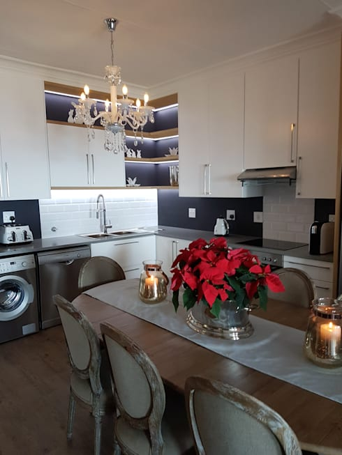 Kitchen After:   by Carne Interiors