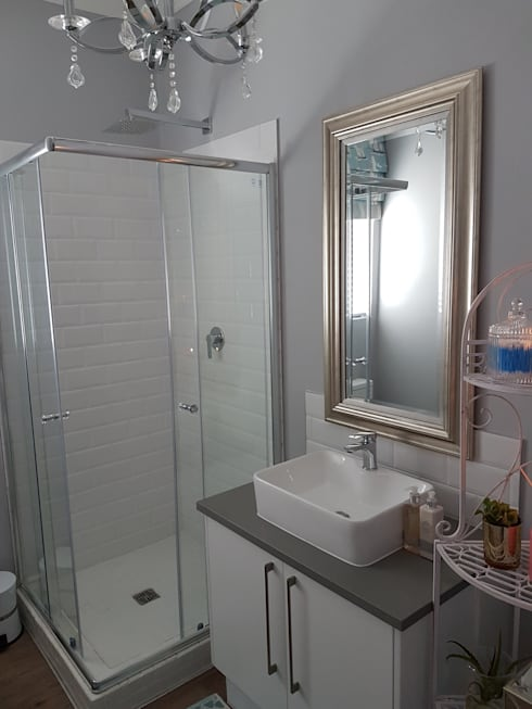 Guest Bathroom After:   by Carne Interiors