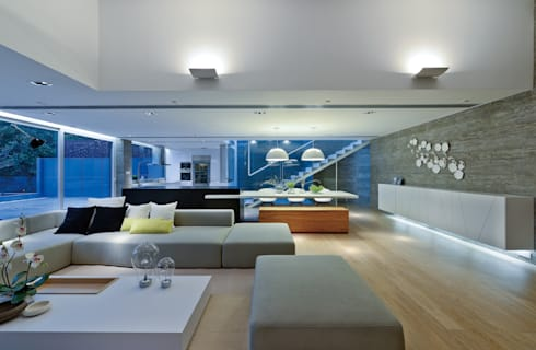 House in Shatin : modern Living room by Millimeter Interior Design Limited