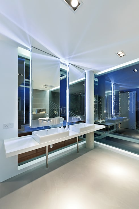 House in Shatin : modern Bathroom by Millimeter Interior Design Limited