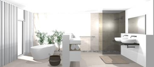 Modernes Badezimmer 3D
