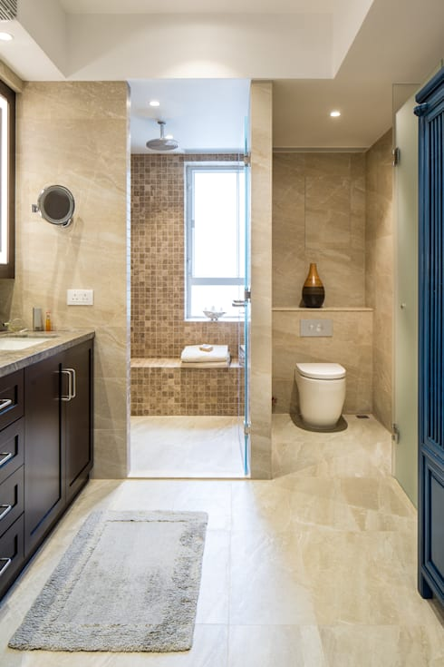 Bathroom renovation: modern Bathroom by Nicole Cromwell Interior Design