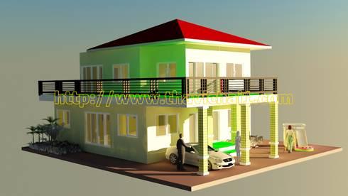 ปรับปรุงบ้าน 2 ชั้น :  บ้านและที่อยู่อาศัย by PROFILE INTERIOR STUDIO