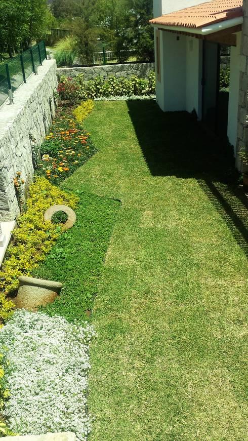 Casa VR-3M: Jardines de estilo moderno por SCH2laap arquitectura + paisajismo