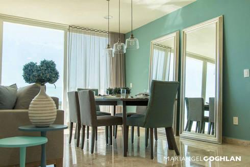 Proyecto Palmas: Salas de estilo moderno por MARIANGEL COGHLAN