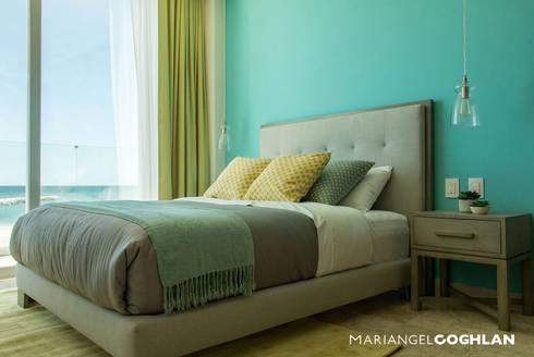 Proyecto Palmas: Recámaras de estilo moderno por MARIANGEL COGHLAN
