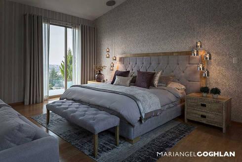 Proyecto Almendros: Recámaras de estilo moderno por MARIANGEL COGHLAN