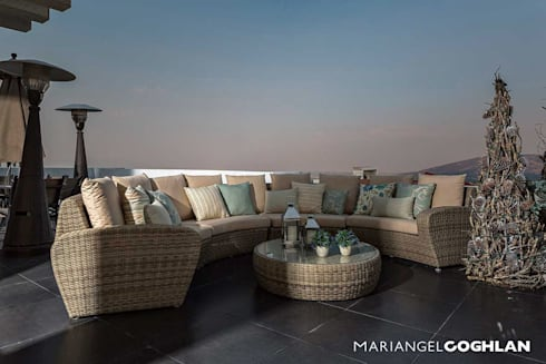 Proyecto Almendros: Terrazas de estilo  por MARIANGEL COGHLAN