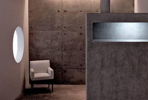 Bar - Café - Hormigón a la Vista: Livings de estilo moderno por JPV Arquitecto