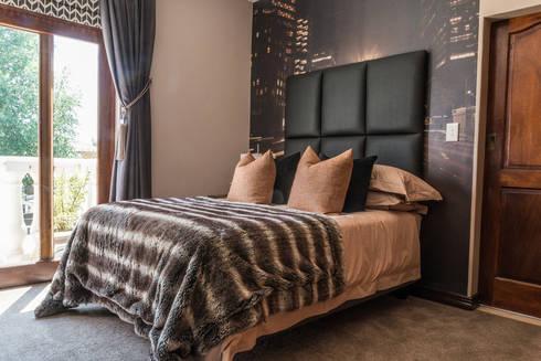 Masculine Colour Scheme: modern Bedroom by Carne Interiors