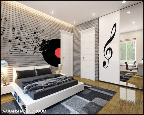 BEDROOM: minimalistic Bedroom by VISIONARY DESIGN