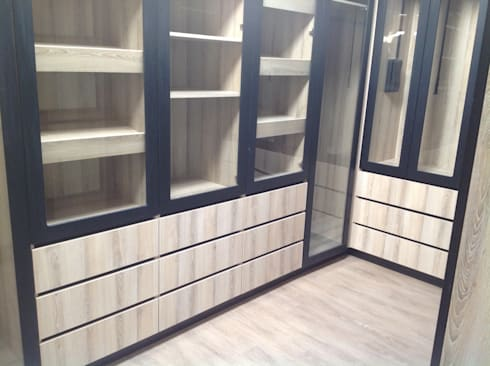 Build in Caboards: modern Bedroom by kitchen frontiers
