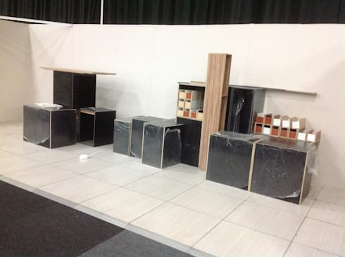 Decorex stand setup: classic Kitchen by kitchen frontiers