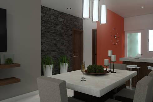 Casa vj255 de residenza by diego bibbiani homify - Comedores de jardin ...