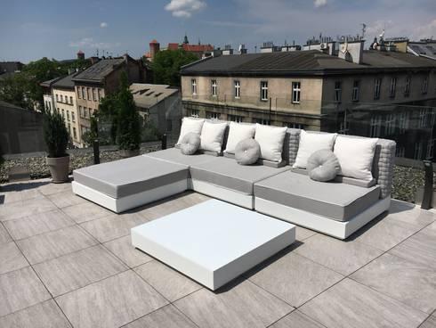 Arredare un attico a cracovia con design italiano di for Arredo esterni design
