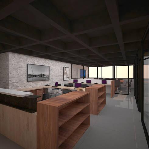 Puestos Administrativos : Oficinas y Tiendas de estilo  por Fiallo Design Studio