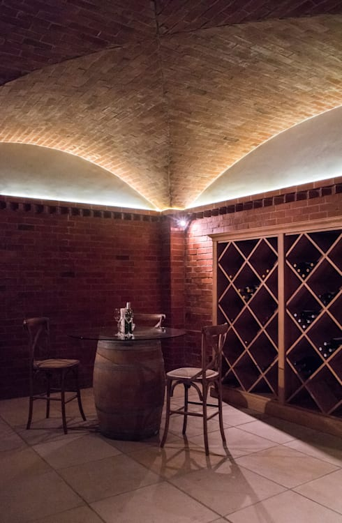 Wine Cellar: country Wine cellar by Tim Ziehl Architects