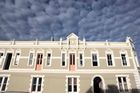 facade:  Exhibition centres by Till Manecke:Architect