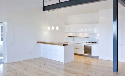 studio 3 kitchen:  Exhibition centres by Till Manecke:Architect