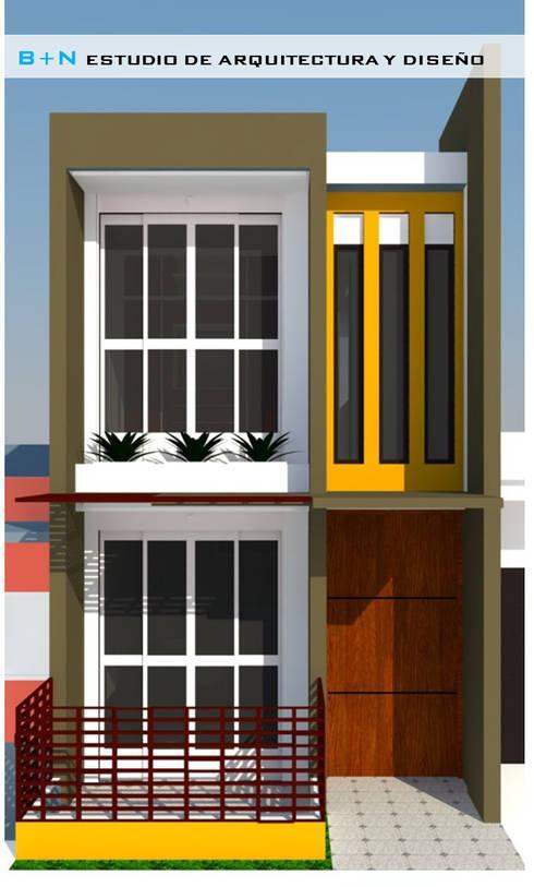 FACHADA PRINCIPAL:  de estilo  por B+N Estudio de Arquitectura y Diseño