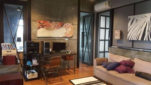 ออกแบบภายในรีโนเวทบ้านอาคารพาณิชย์ บ้านคุณบี สวนสยามซอย 5:   by Davin Interior Co., Ltd