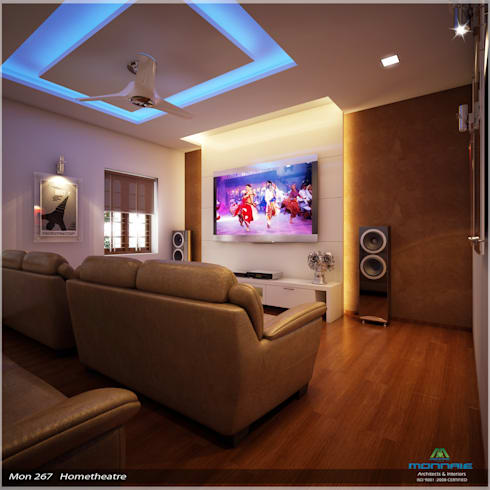 Imposing Design… : modern Media room by Premdas Krishna