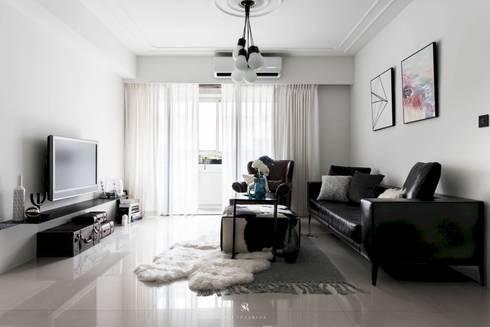 皓慕.Home Home Amore:  客廳 by 理絲室內設計有限公司 Ris Interior Design Co., Ltd.